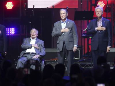 5 former US Presidents together for a good cause