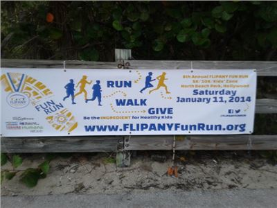 8th Annual FLIPANY Fun Run at  Hollywood - Florida