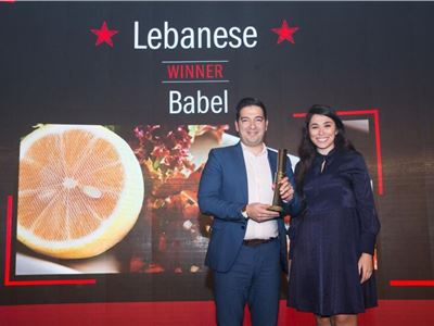 Babel Restaurant @ M. H. Al Shaya receives Time out Dubai award for best Lebanese Restaurant 2019