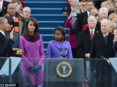 Barack Obama took the Oath of Office