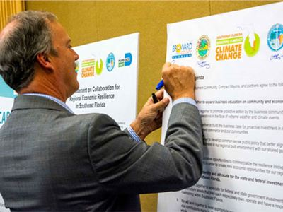 "Climate Compact and the ""Business of Resilience"" of  Southeast Florida"