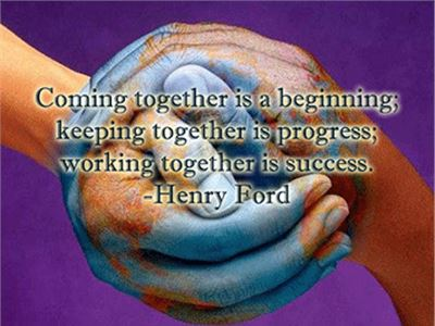 Coming together....Keeping together....Working together...