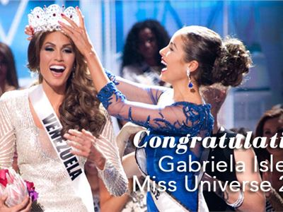 Gabriela Isler, winner of Miss Universe 2013
