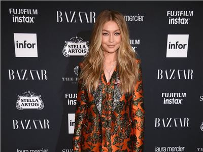 Gigi Hadid wears Dolce&Gabbana at the Harper's BAZAAR Celebration of 'ICONS By Carine Roitfeld' in New York City.