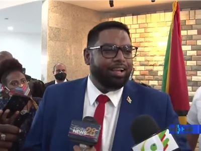 GUYANA: New President Dr Irfaan Ali speaks to Members of Media