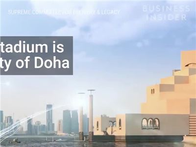 Here's a first look at Qatar's $ 200 billion World Cup stadium