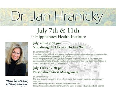 Hippocrates Health Institute Welcomes Guest Lecturer Janet Hranicky, Ph.D.