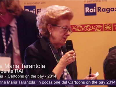 Il presidente RAI Anna Maria Tarantola, promuove il Browser YOYO - Cartoons on the bay - 2014