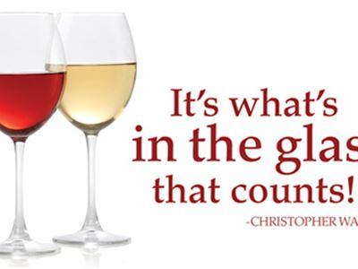 It's what's in the glass that counts!