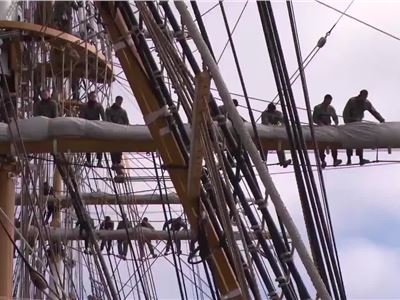 Learn about the Italian language aboard the Amerigo Vespucci.  Italian full sail ahead!