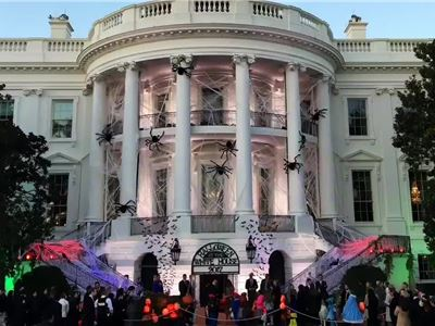 Live from The White House. President Donald Trump Wishes everyone a safe and Happy Halloween!