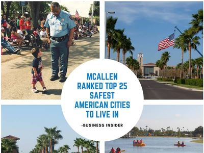 MCAllen ranked Top 25 Safest American Cities To Live in