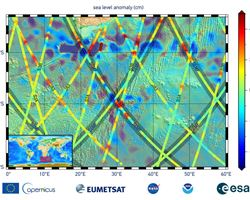 NASA, US, European Partner Satellite Returns First Sea Level Measurements