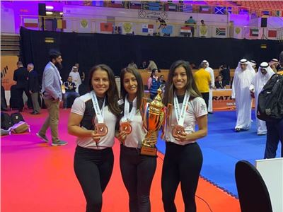 Peruvian karate women's team in the specialty of Kata.