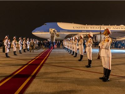 President Trump lands in Vietnam for second historic summit with North Korea