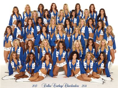 The Dallas Cowboy cheerleaders (Texas)  shot during the session fotogafica for calendar 2014