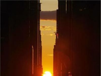 "The ""Manhattanhenge"" happens four times a year"